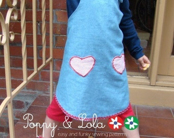 instant download - 2 Hearts Sundress PDF Sewing Email Pattern