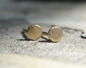 Gold Earrings , Tiny Gold Earrings , Small Pin Earrings , Circle Stud Earrings , Gold Stud Earrings , Tiny Studs