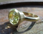 Ring - 14k Gold And Lemon Quartz Ring
