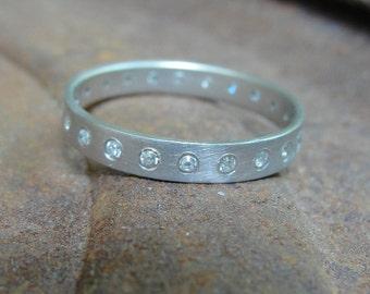 Eternity Ring , Diamond Eternity Ring , Anniversary Gold Ring , Eternity Wedding Band , White Gold Eternity Ring ,  Gold Wedding Ring