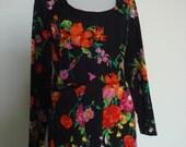 1970's floral jumpsuit  M/L