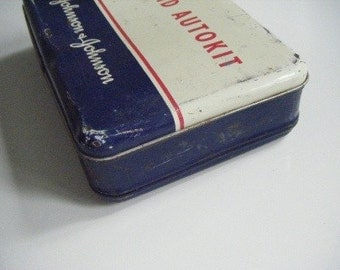 Vintage First Aid Kit Auto Kit Johnson & Johnson