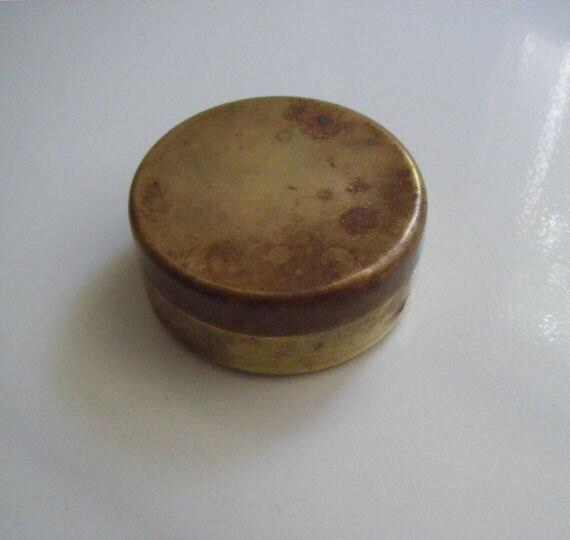 Brass Round Box