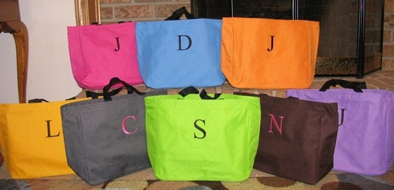 18 Personalized Embroidered Essential Tote Bag-THIS IS FOR 18 bags