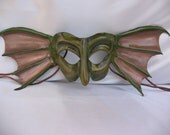 Leather Mask - Fairy, Elf , Sea Monster, Water Sprite