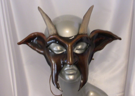 Pan / Goat Leather Mask
