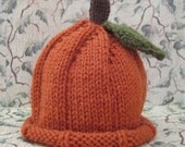 Pumpkin Hat for Child:  1 -3 Years or 3 - 10 Years READY TO SHIP