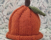 Pumpkin Hat for Baby: 3-6 Months READY To SHIP