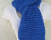 Cozy Fleece Scarf in Arctic Sky (Blue) READY TO SHIP