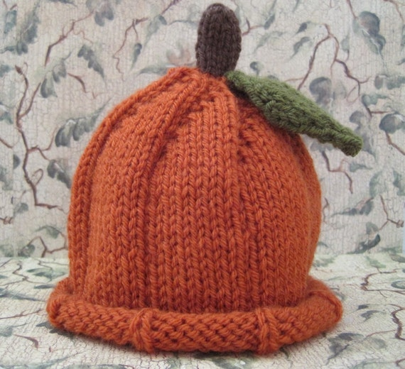 Pumpkin Hat for Baby: Newborn, 3 - 6 months, and 6 - 12 months READY TO SHIP