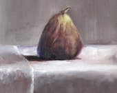 original oil painting canvas art home decor still life  brown fig on white tablecloth daily painting wall art kitchen decor