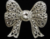 1940's Exquisite Bow Rhinestone Brooch