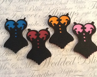 """3.5"""" corset die cuts for large tags, cards, scrapbooks, smash books..."""