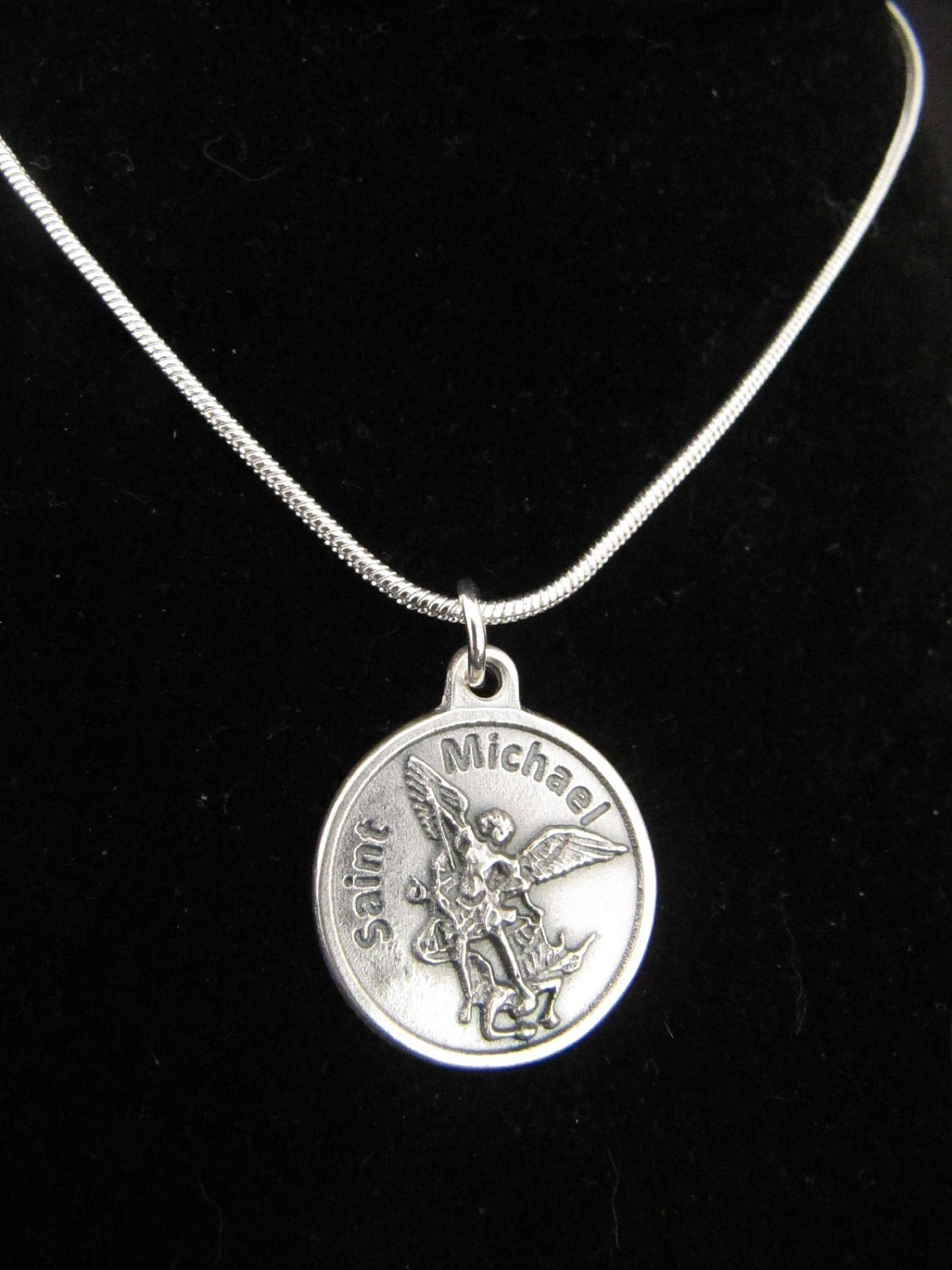 s catholic archangel st michael pendant necklace
