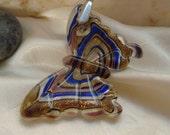 Glass butterfly necklace