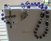 Gorgeous Hand Strung Amethyst and Sterling Silver Rosary