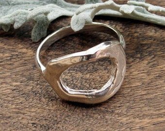 Ring Artisan Handcrafted Oval Fusion Sterling Silver