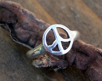 Peace Ring or Toe Ring Sterling Silver