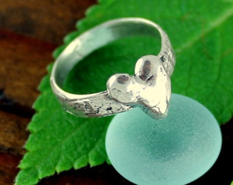 Heart Ring Artisan Sterling Silver