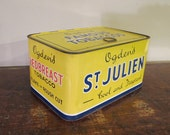 Vintage Ogdens Famous Tobaccos Redbreast Tobacco Tin from England