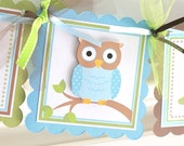 Owl Age Banner, Owl Party Decorations, Owl 1st Birthday Banner, Smash Cake Banner, Boy Birthday, Blue Owl