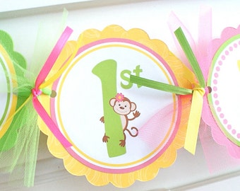 Little Monkey, Birthday Banner