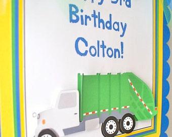 Garbage Truck Birthday, Door Sign - Personalized