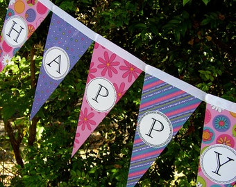 Happy Birthday Banner Party Decoration Garland Bunting Pennant