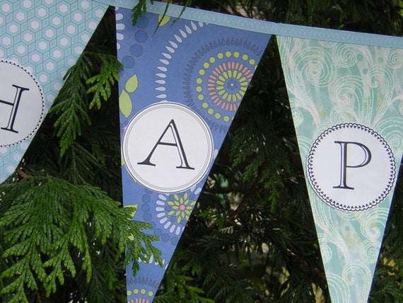 Custom Name Banner - Personalized Party Decoration Bunting Garland Pennant