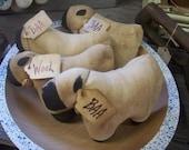 6 Primitive Sheep Bowl Fillers