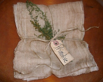 4 yards of grungy Stained Primitive Cheesecloth for Decorating