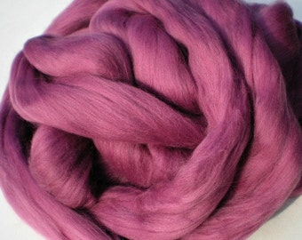 """Ashland Bay Solid Colored Merino for Spinning or Felting """"Berry""""  4 oz."""