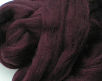 """Ashland Bay Solid Colored Merino for Spinning or Felting """"Wine""""  4 oz."""