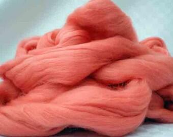 "Ashland Bay Solid Colored Merino for Spinning or Felting ""Begonia""  4 oz."