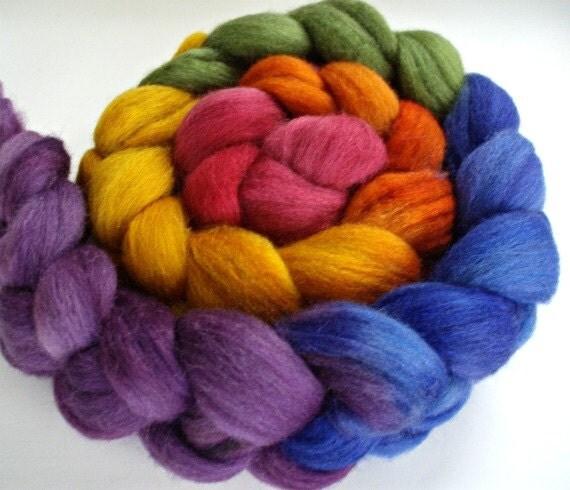 BFL/Silk 4 Oz. Rainbow Gradient