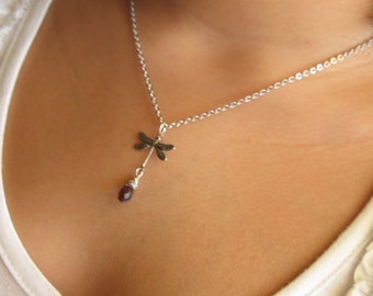 20% off any order Sterling Silver Dragonfly Necklace