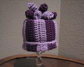 Curly top hat-hand crochet-baby-child-teen-adult-purples