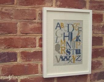 Nursery Alphabet Sampler PDF Cross Stitch Pattern