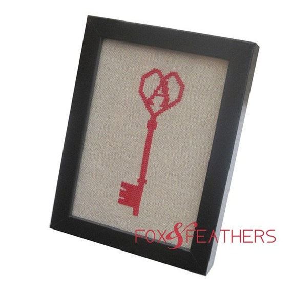 Key to My Heart Pdf Cross Stitch Pattern