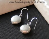 Perfect Pearl Earrings - Timeless classic of AAA grade coin pearls on all sterling silver components, June birthstone, Brides or Bridesmaids