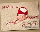 Baby Boy Birth Announcement,  Baby Girl Birth Announcement: Printable (Jackson  photo baby announcement)