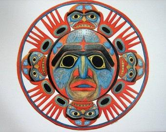 Sun Mask 11x17 print