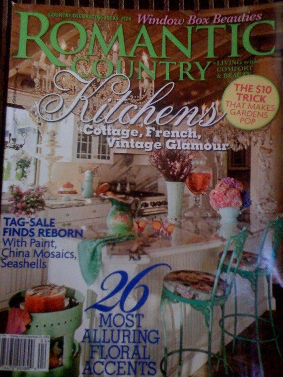 Romantic country magazine kitchens cottage shabby chic french for Country cottage magazine