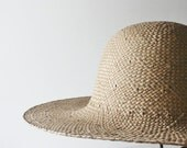 50% off everything sale// Vintage SUMMER SUN Tan Straw Hat
