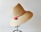 reserved...Vintage GARDEN Woven Hat