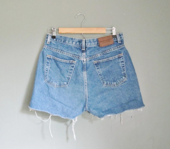 Vintage BOAT DAYS Denim Shorts - Women Large - Ralph Lauren 90s
