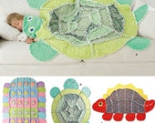 Warm Cozy Easy Childrens Rag Quilt Patterns Dinosaur Turtle Caterpillar Free Ship