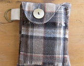 Brown Wool Plaid Gadget Case