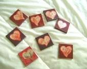 Tiny Heart Canvases