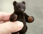 Nero, Miniature Mini,Black Artist Art Bear by Aerlinn Bears
